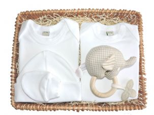 Jackanory Unisex Gift Baby Basket by Mulberry Organics